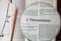magnifying glass over 2 Thessalonians