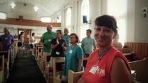worship service with worship music