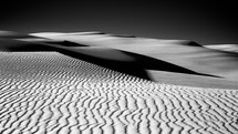 Ripples in the sand at the Stockton sand dunes.