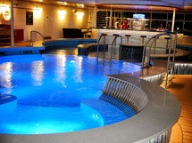 adults only area bar and pool on a cruise ship