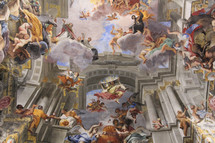 artistic painted cathedral ceiling