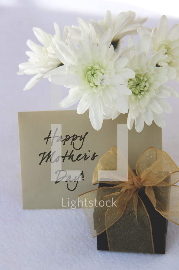 Mother's day flowers, gift and card