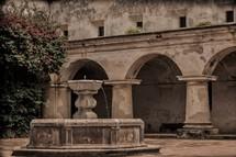 fountain in a courtyard