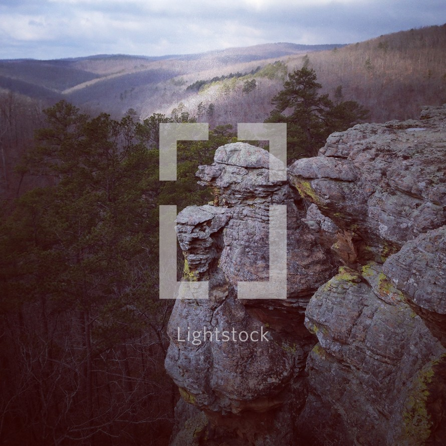 steep rocky ledge