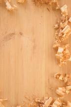 wood shavings border