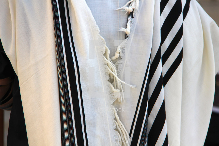 Orthodox Jewish Linen prayer shawl.