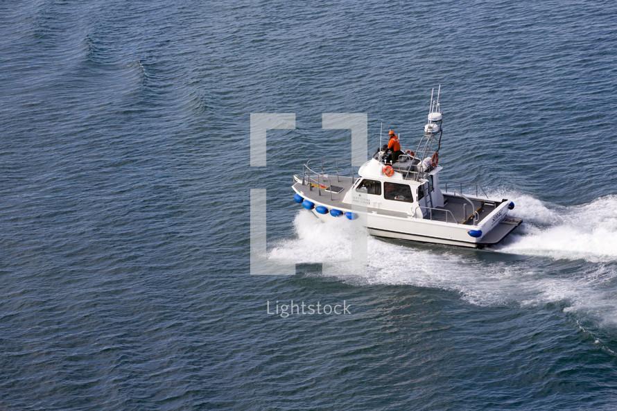 coastguard boat on the water