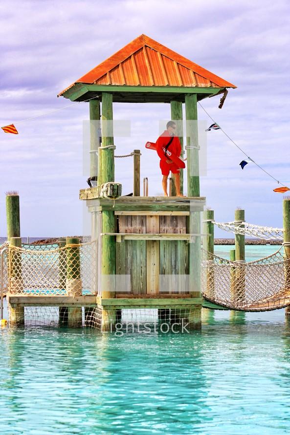 Lifeguard at Disney Lands Cast Away Cay