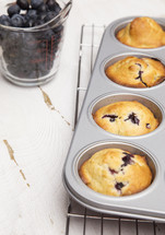 baking blueberry muffins