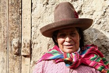 Peruvian woman dressed in traditional style