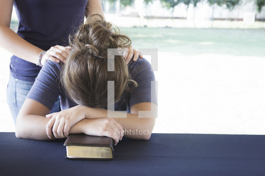 Comforting a Distressed Woman During a Bible Study