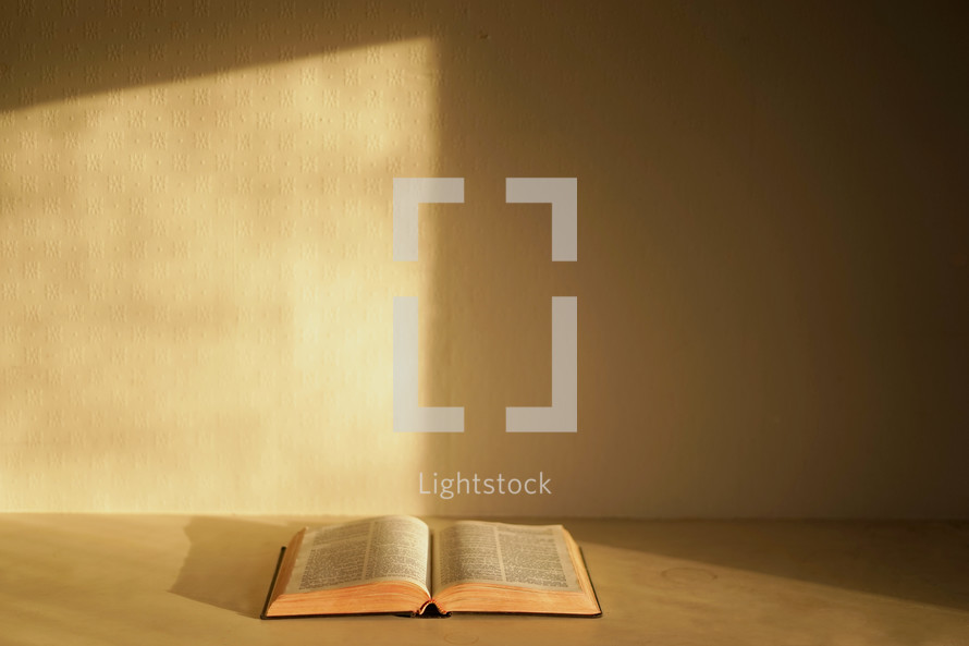 a Bible on a table