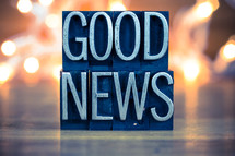 words good news sign