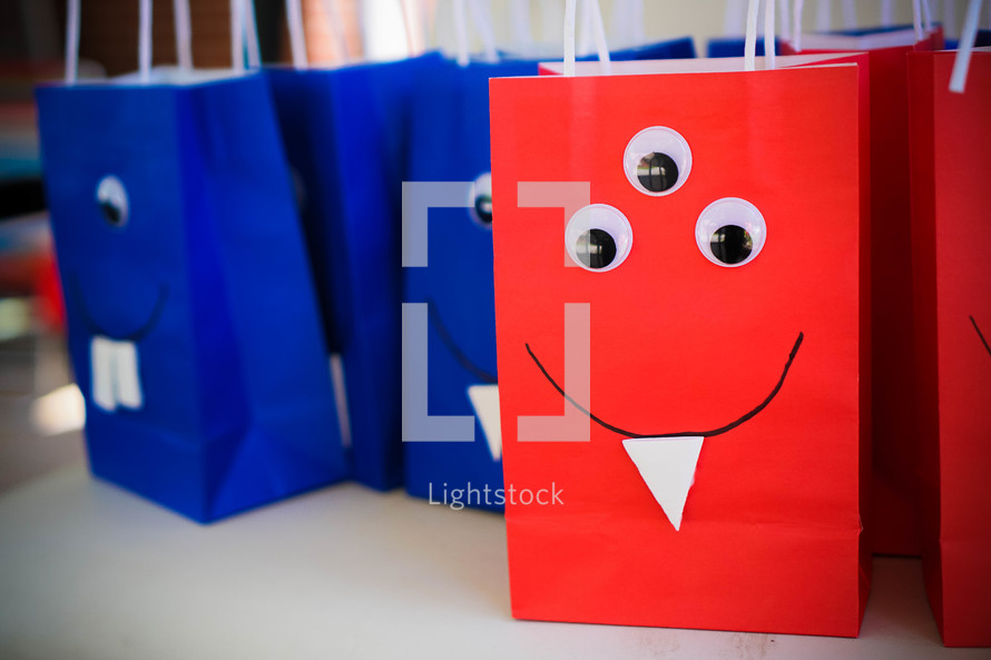 goodie bags at a party