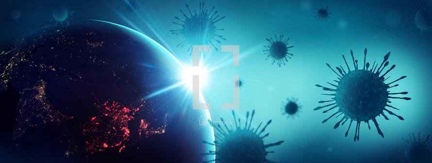 virus background