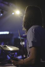 drummer on stage at a concert