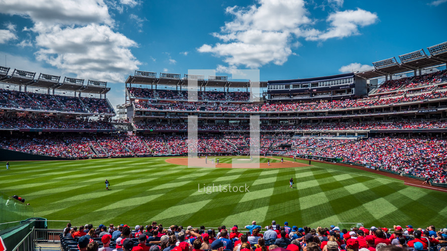 a packed baseball stadium