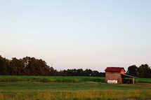 shed on farmland