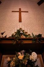 candles at a church altar