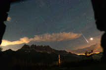 Capturing shooting stars in the mountains