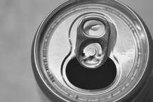top of an aluminum can
