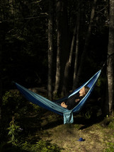 hammocks in a forest