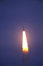 a rocket blasting off