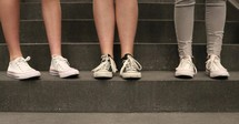 teens in sneakers