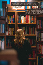 shopping at a book store