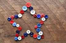 star shaped buttons