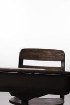empty student desk