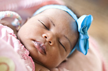 sleeping infant girl