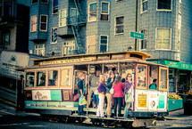 people on a trolley
