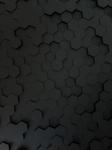 gray hexagon background