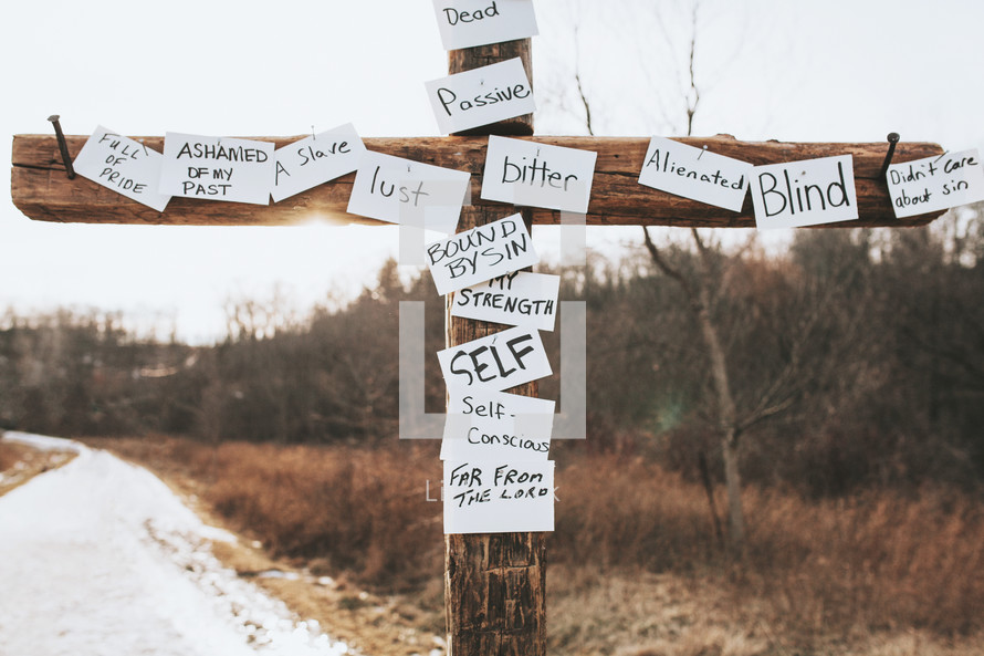 Sins, nail it to the cross — Photo by shaner - Lightstock