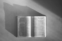 on open Bible