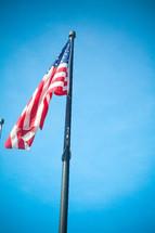 American flag on a flag pole