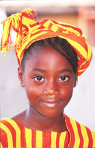 girl child in traditional clothing