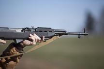aimed rifle