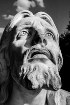 face of Jesus statue