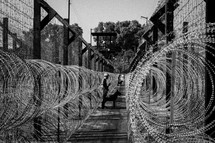 barbed wire prison
