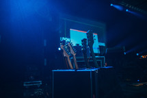 guitars on a stage