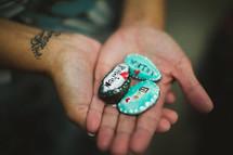 prayer rocks - worthy, forgiven, new