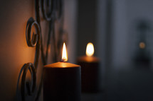 candle wall decoration