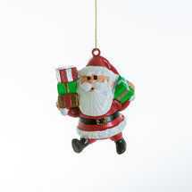 A Santa Christmas ornament