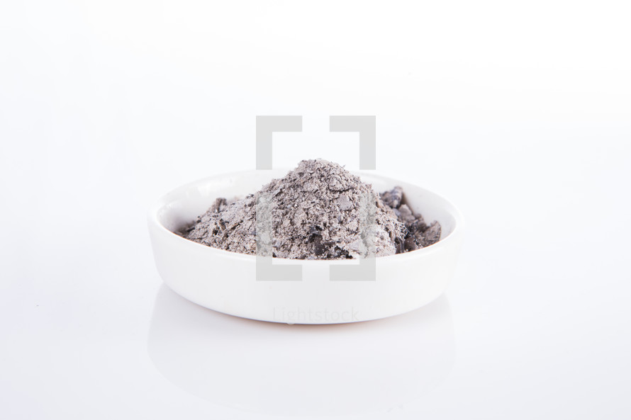 a bowl of ashes