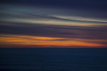 sky at sunset over the ocean