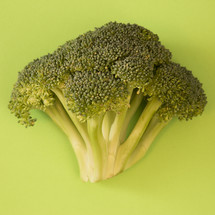 broccoli on green