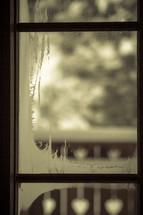 frost on a window pane