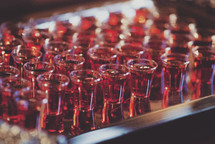 communion cups on a tray